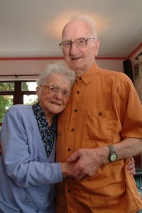 Babs and Ron on their 76th wedding anniversary.