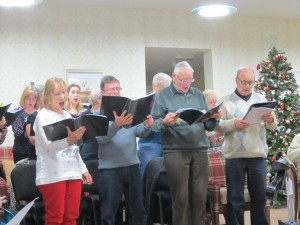 Not lonely here: singing Christmas Carols at Pilgrim Gardens