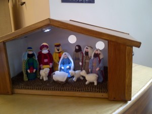 Nativity Scene made by residents at Royd Court