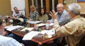 older workers' meeting