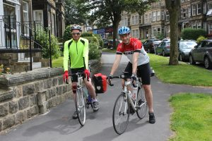 Stephen & Philip setting out from Emmaus House, Harrogate