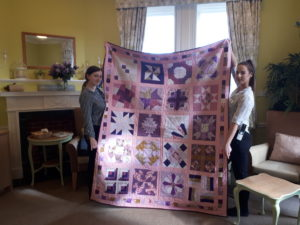 The hand-made 'going Home' quilt