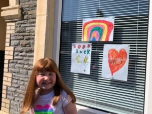 A child's rainbow lifted a lonely medic's heart